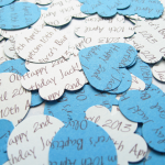 Blue Mix Confetti Shapes