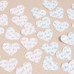 White Personalised Heart Confetti - Baby