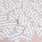 White Personalised Heart Confetti