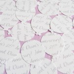 White Personalised Balloon Confetti