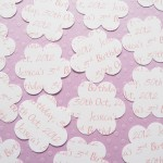 White Personalised Flower Confetti