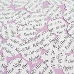 White Personalised Heart Confetti