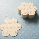 Cream Personalised Flower Confetti