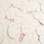 Cream Personalised Scalloped Hearts