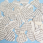 Scallop Edged Heart Novel Confetti
