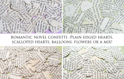 Romantic Novel Confetti Shapes