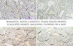 Romantic Novel Confetti Shapes