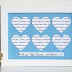 Personalised Heart Frame - 6 Hearts