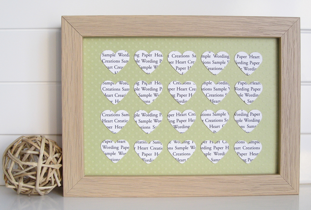Personalised Heart Frame – 20 Hearts