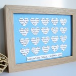 Personalised Heart Frame - 20 Hearts