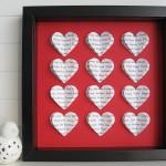 SPersonalised Square Heart Frame