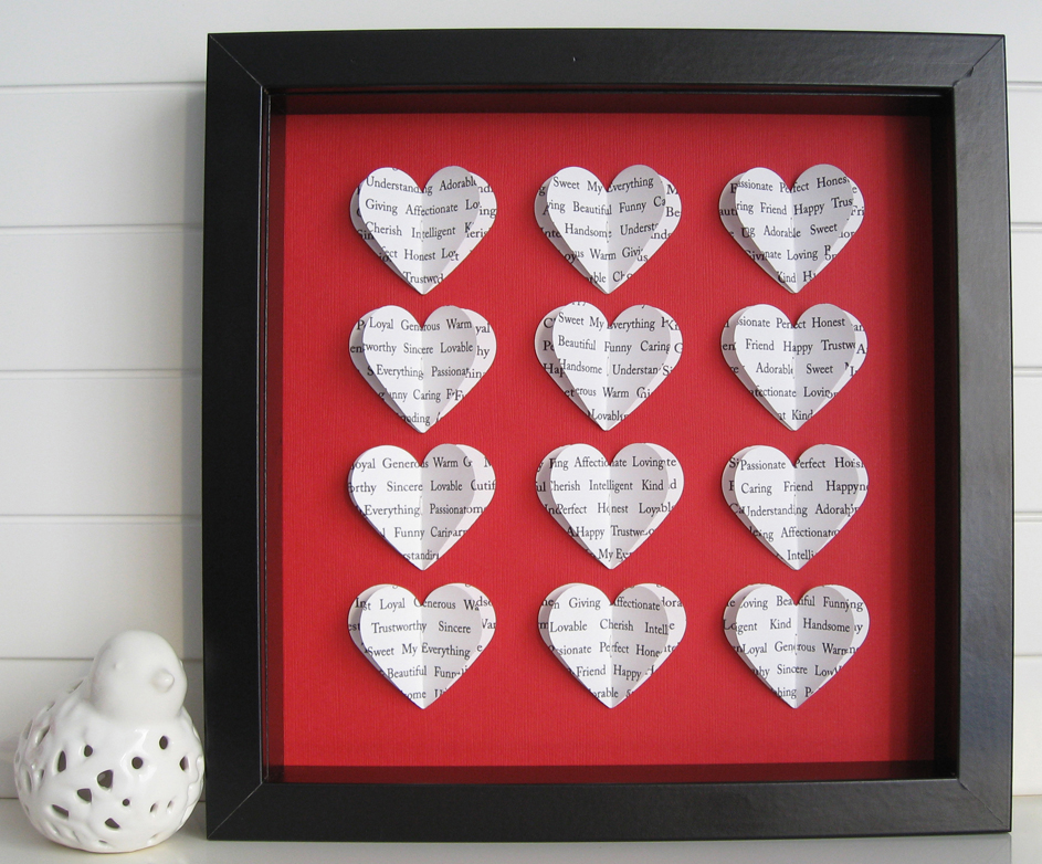 SPersonalised Square Heart Frame