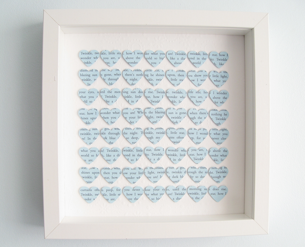 Personalised Square Heart Frame